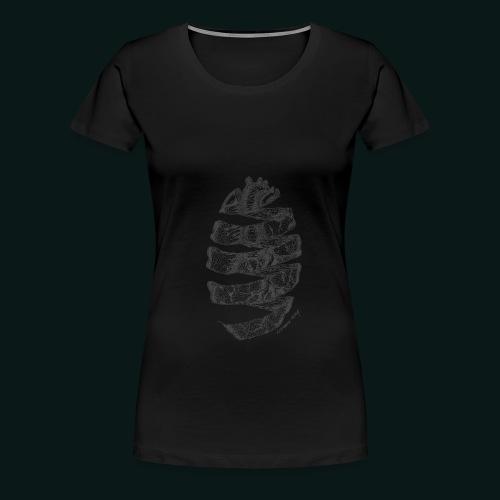 hjerte 2 - Dame premium T-shirt