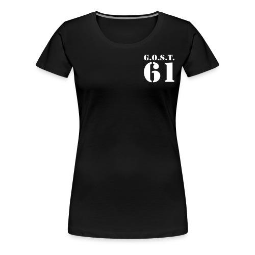deux lignes stencil - T-shirt Premium Femme