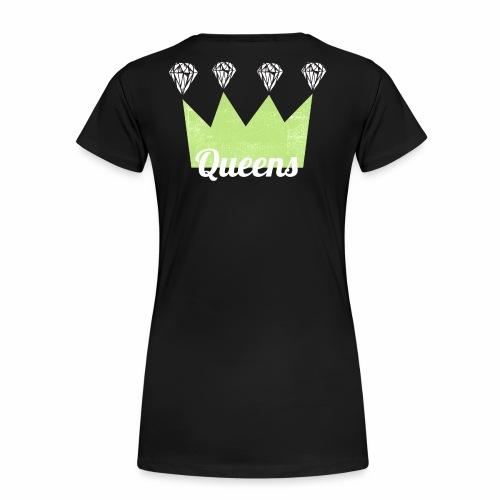 logo_queens_v4_vihr_valk - Naisten premium t-paita