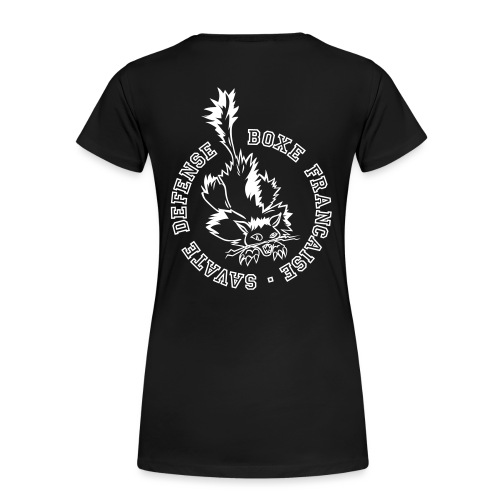 chat rond back 25 SVG - T-shirt Premium Femme