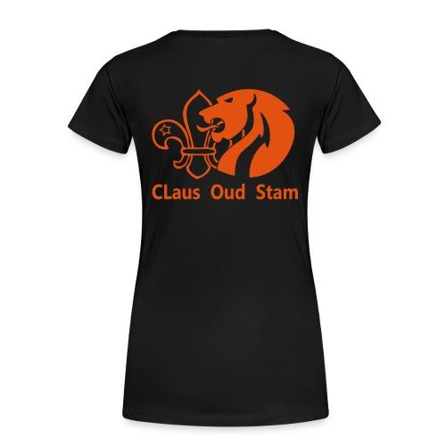 claus oud stamlogotekst oranje - Vrouwen Premium T-shirt