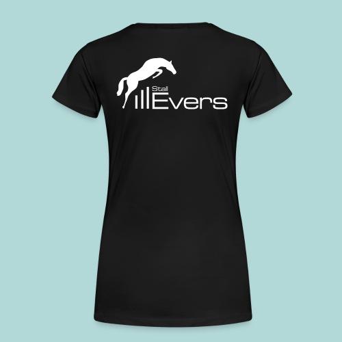 evers logo mit pferd weis - Frauen Premium T-Shirt