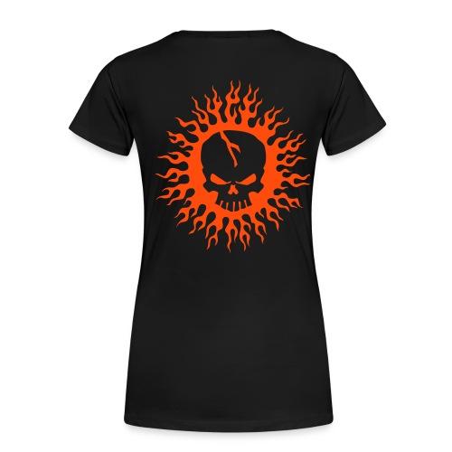 Skull on Fire - Frauen Premium T-Shirt