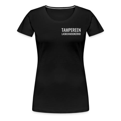 Teksti TAMLK logo CMYK Wh - Naisten premium t-paita