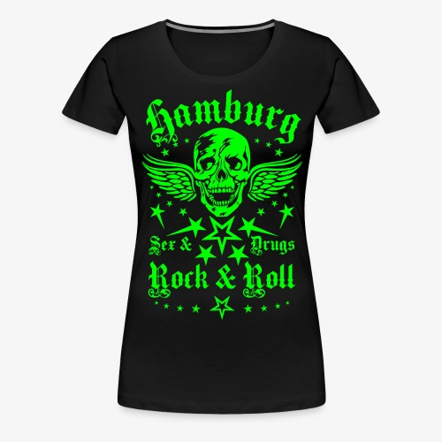 Hamburg Sex Drugs Rock & Roll Skull Wings - Frauen Premium T-Shirt
