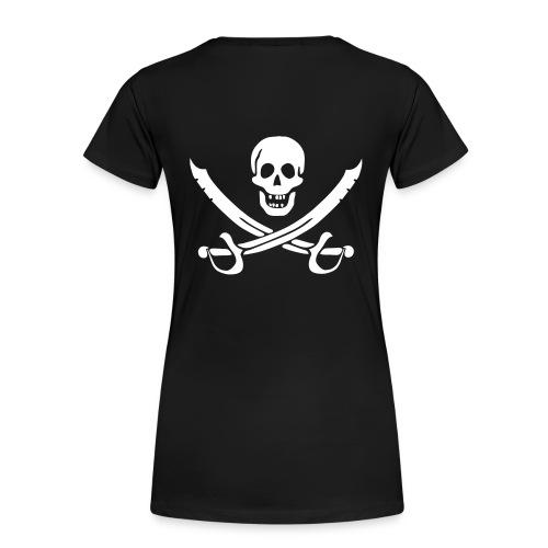 Piratenpullover Mann Weiß-Schwarz - Frauen Premium T-Shirt