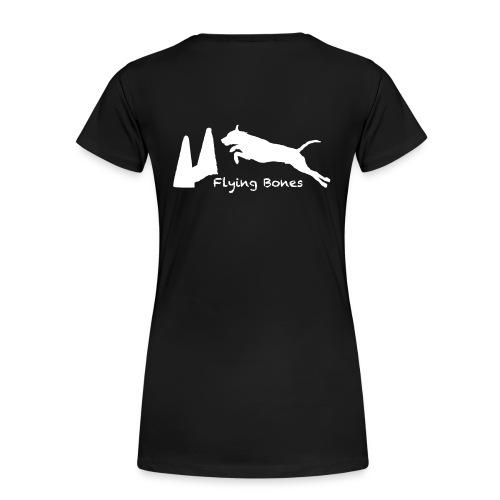 flying bones shirtschwarz 2 - Frauen Premium T-Shirt