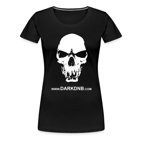 Dark DnB skull site - Women's Premium T-Shirt