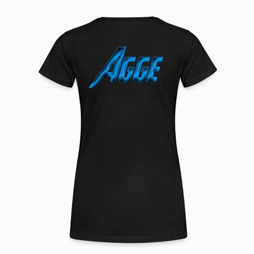 Agge - Blå Logga   Bak - Premium-T-shirt dam