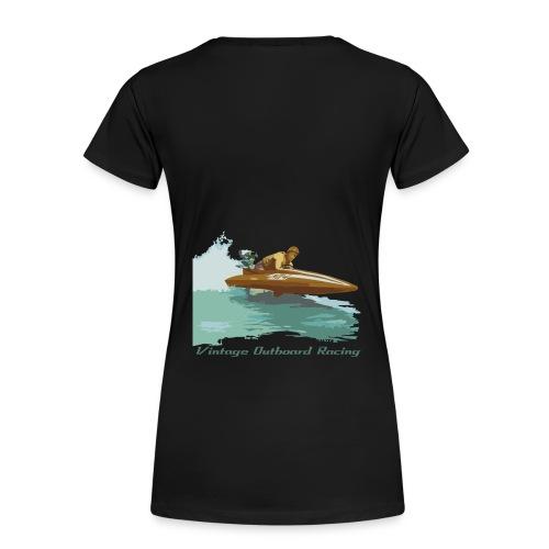 Stock Outboard Class A B Racer Text dunkel - Frauen Premium T-Shirt