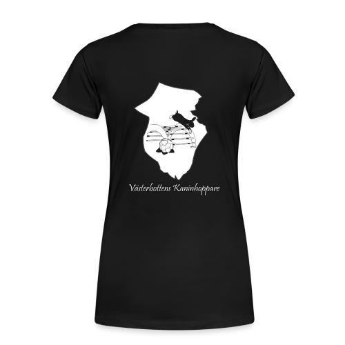 Klubbtröja, tryck bak - Premium-T-shirt dam