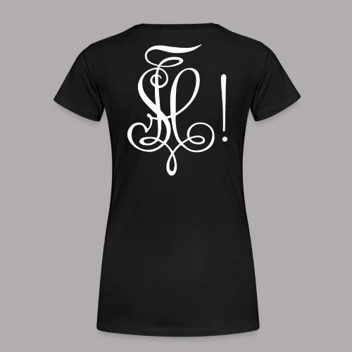 Zirkel, weiss (hinten) - Frauen Premium T-Shirt