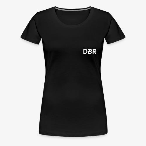 DBR Schrift weiss png - Frauen Premium T-Shirt