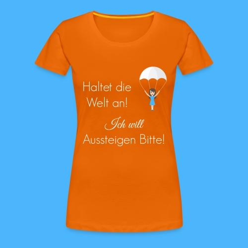 Fallschirm weiß - Frauen Premium T-Shirt