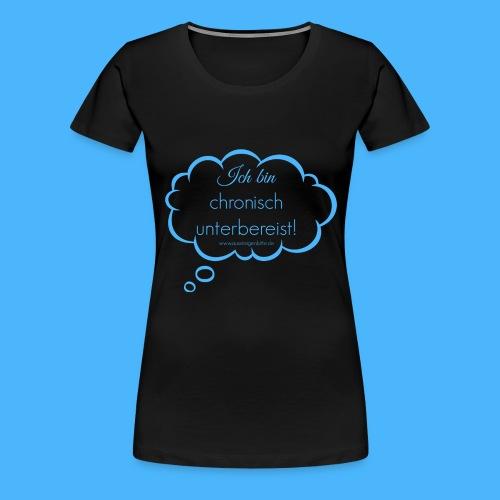 denkblase ganz blau - Frauen Premium T-Shirt