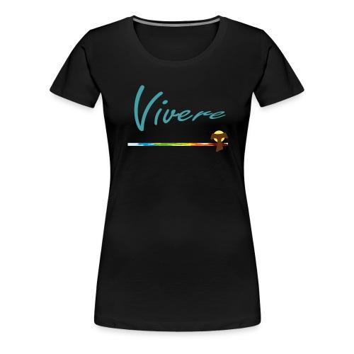 Vivere Font Blau Spirit - Frauen Premium T-Shirt