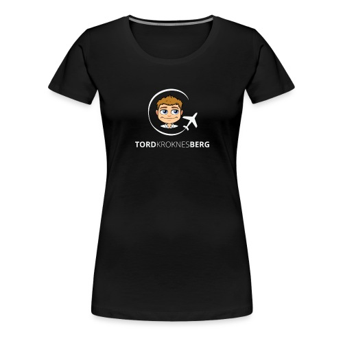 Logo (lys) - Premium T-skjorte for kvinner