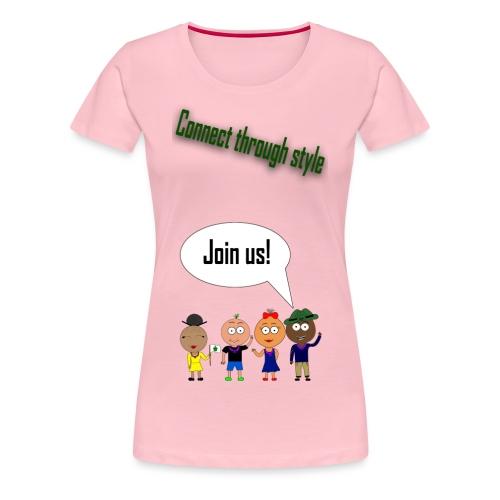 Front 2 png - Dame premium T-shirt