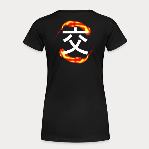 FLAMMES - T-shirt Premium Femme