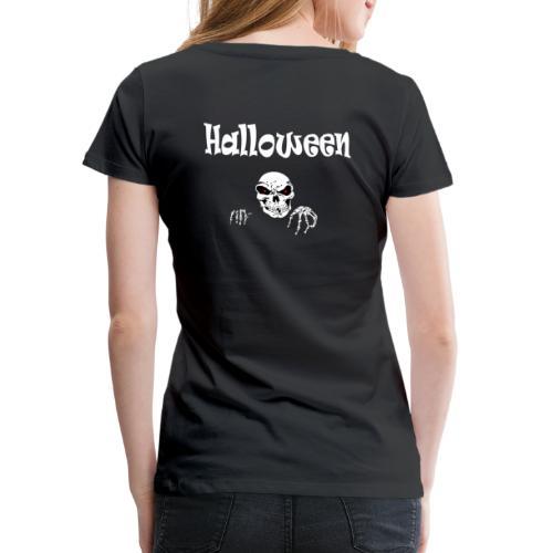 Halloween Dead Head Design - Frauen Premium T-Shirt