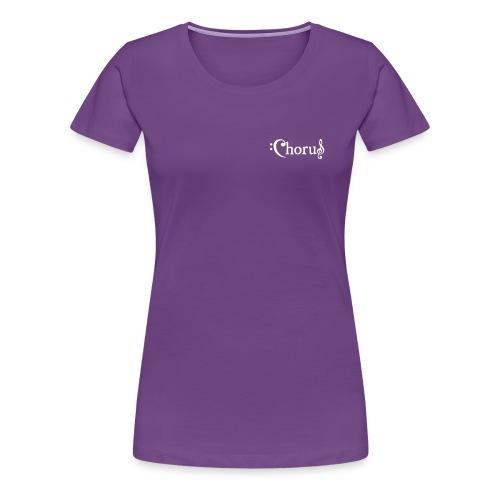 Chorus Kör Logo Vit EPS - Premium-T-shirt dam