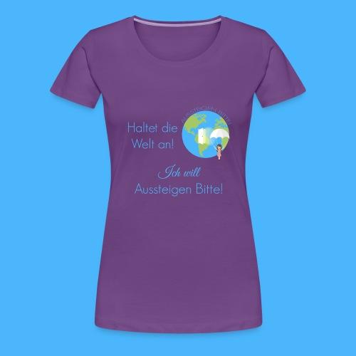 Logo Spruch blau - Frauen Premium T-Shirt