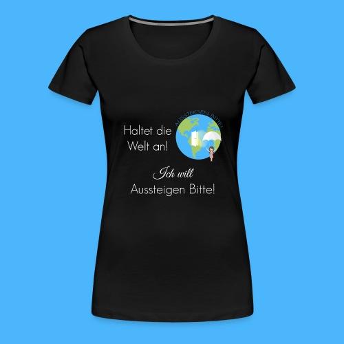 Logo Spruch weiß - Frauen Premium T-Shirt