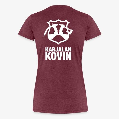 karjalan kovin logo pysty cmyk - Naisten premium t-paita