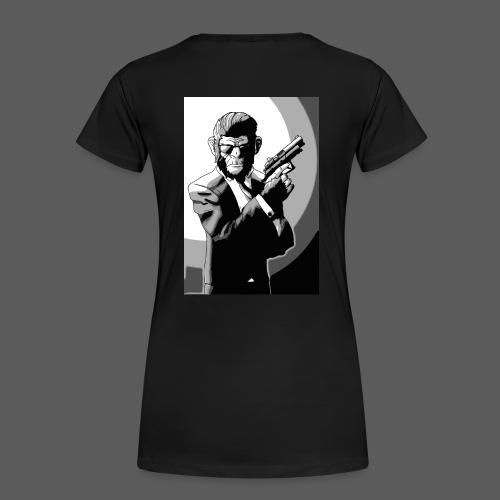 Affe Mit Waffe - Frauen Premium T-Shirt