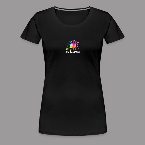 LOGO GL LOCAFUN ECRITURE BLANCHE png - T-shirt Premium Femme