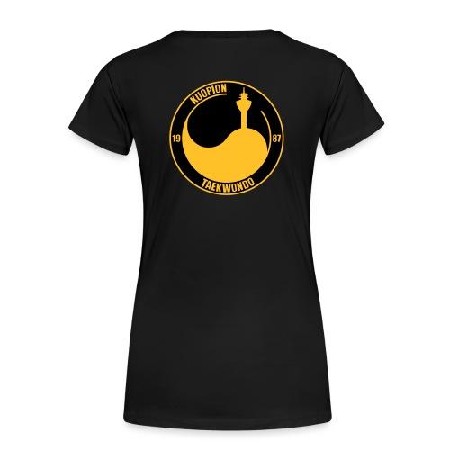 kuo tkd logo2017 brodeera - Naisten premium t-paita