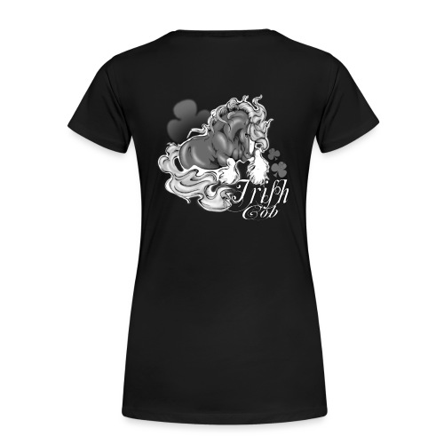 t shirt irish pie black uni noir png - T-shirt Premium Femme