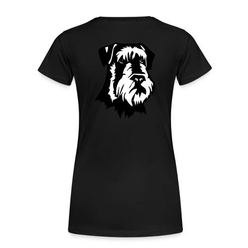 Riesensnautzer head - Naisten premium t-paita