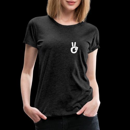 Motardie V blanc - T-shirt Premium Femme