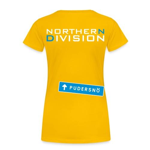 pudersn_2vari - Naisten premium t-paita