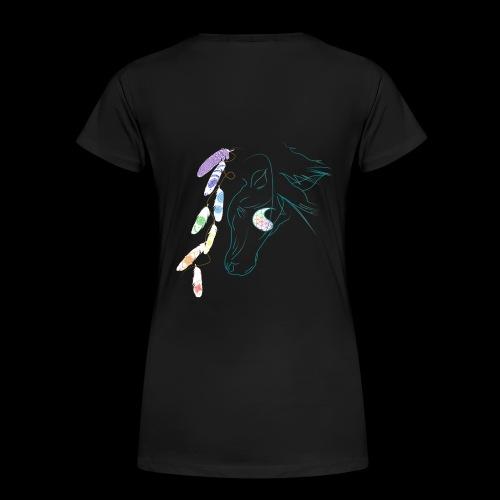 Chakra feather Stallion - Frauen Premium T-Shirt