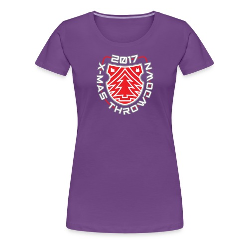 X mas TD front shield red - Frauen Premium T-Shirt