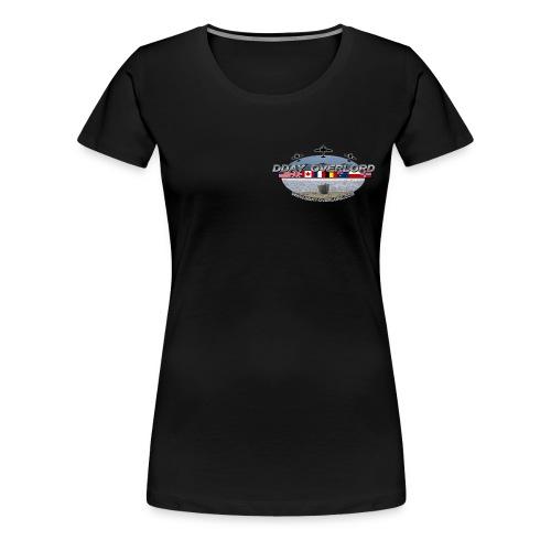 t shirt dday overlord noir png final png - T-shirt Premium Femme