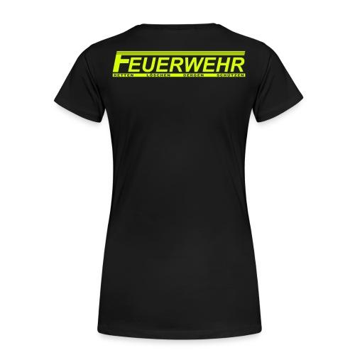 F Feuerwehr Retten Bergen Löschen Schützen - Frauen Premium T-Shirt