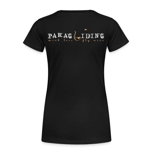 paragliding - Work less, fly more - Women's Premium T-Shirt