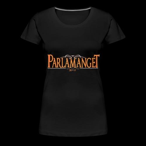 Logo trykk 2 png - Premium T-skjorte for kvinner