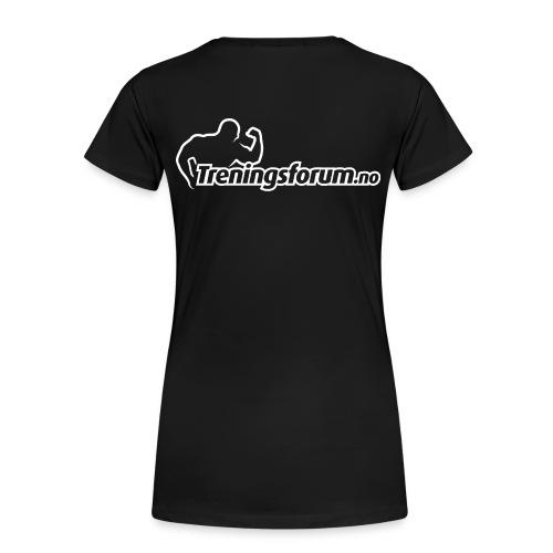 spreadshirt logo hvit png - Premium T-skjorte for kvinner