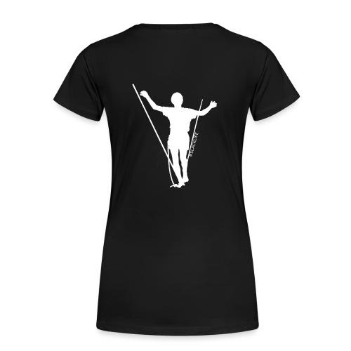 design2 breitwhite - Frauen Premium T-Shirt
