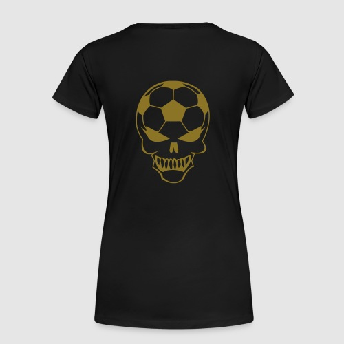 Fußball-Totenkopf - Frauen Premium T-Shirt