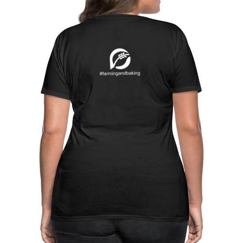 farningandbaking onlywhite - Frauen Premium T-Shirt