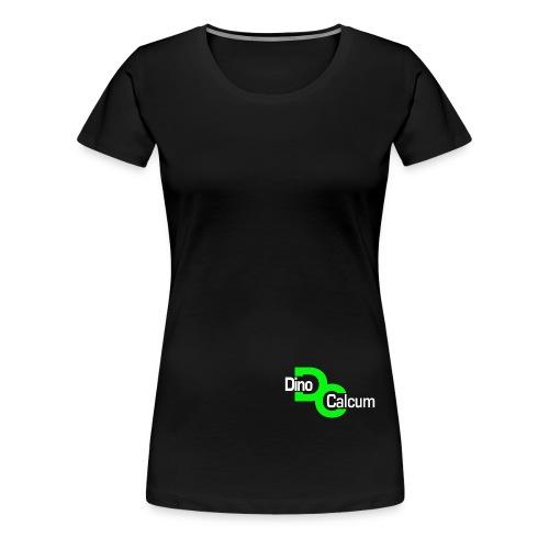 Dino Logo weiß freigestel - Frauen Premium T-Shirt