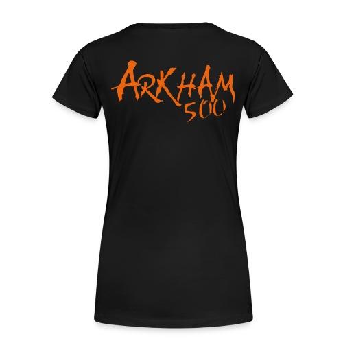 logo_arkham_red_trykk3 - Premium T-skjorte for kvinner
