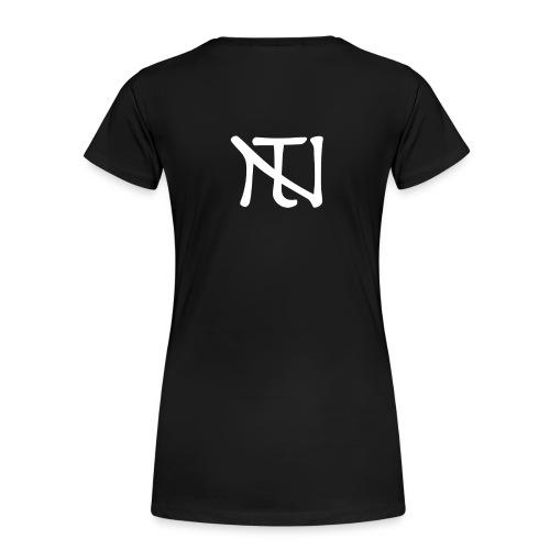 White Logo - Premium-T-shirt dam