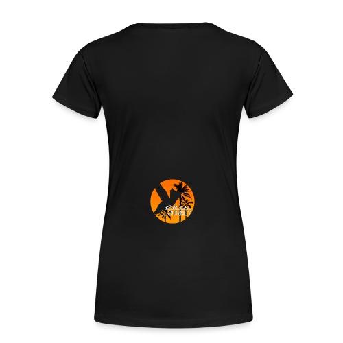 Logo on a journey komplett orange mit palmen Kopie - Frauen Premium T-Shirt