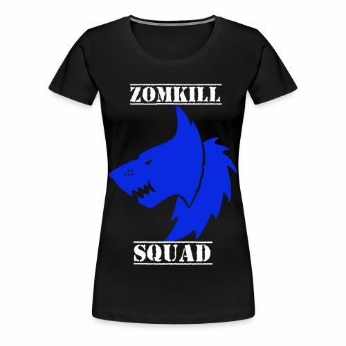 wolf zomk dblue png - Women's Premium T-Shirt